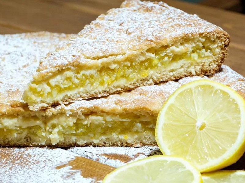 Лимонно-финиковый пирог
